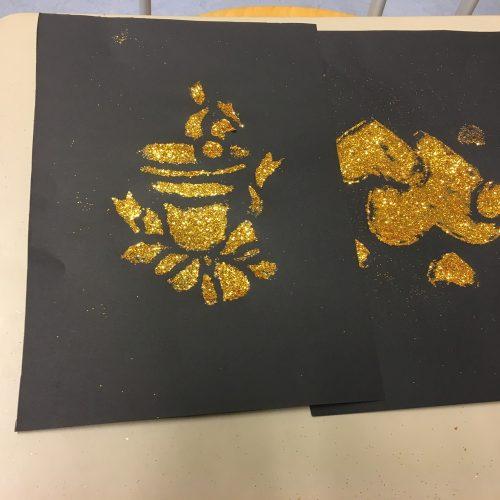 Glitzer und Gold in der 2b